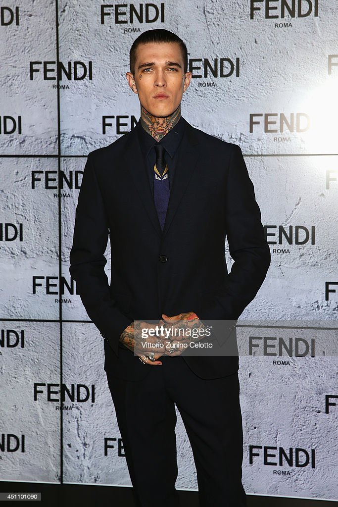 Jimmy Q attends the Fendi show during Milan Menswear Fashion Week Spring Summer 2015 on June 23, 2014 in Milan, Italy.