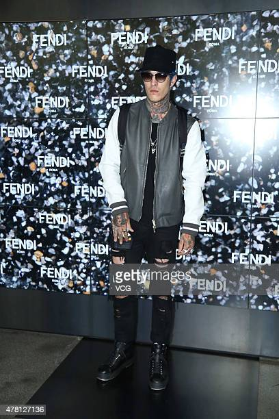 Jimmy Q attends the Fendi show during the Milan Men's Fashion Week Spring/Summer 2016 on June 22 2015 in Milan Italy