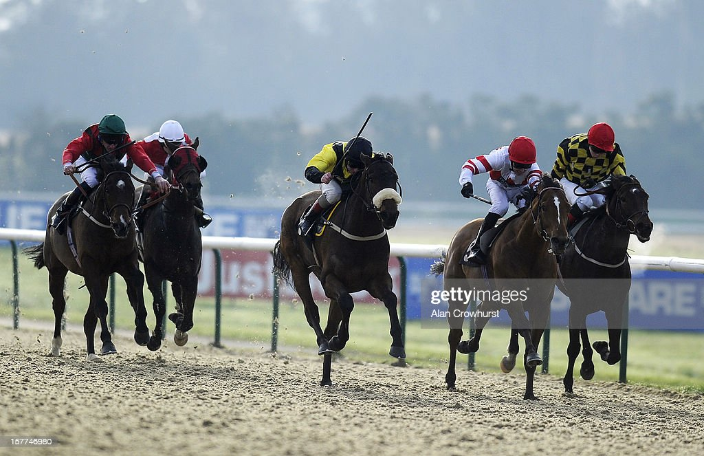 <a gi-track='captionPersonalityLinkClicked' href=/galleries/search?phrase=Jimmy+Quinn&family=editorial&specificpeople=182517 ng-click='$event.stopPropagation()'>Jimmy Quinn</a> riding Amelia Hull (C) wins The 32RedBet.com Selling Stakes at Lingfield racecourse on December 06, 2012 in Lingfield, England.