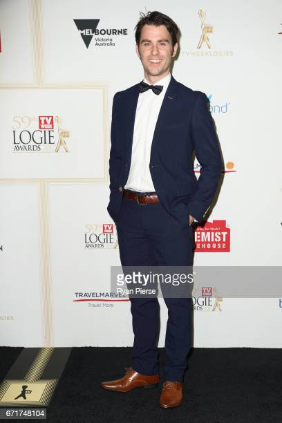 Jimmy Rees arrives at the 59th Annual Logie Awards at Crown Palladium on April 23 2017 in Melbourne Australia