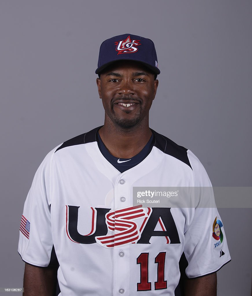 <a gi-track='captionPersonalityLinkClicked' href=/galleries/search?phrase=Jimmy+Rollins&family=editorial&specificpeople=204478 ng-click='$event.stopPropagation()'>Jimmy Rollins</a> #11 of Team USA poses for a headshot for the 2013 World Baseball Classic on Monday, March 4, 2013 at Salt River Fields at Talking Stick in Scottsdale, Arizona.