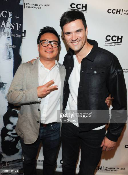 Jimmy Shin and Kash Hovey attend the 'Jack And Cocaine' Screening At The Valley Film Festival at Columbia College Hollywood on October 7 2017 in Los...