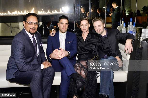 Jimmy Smits Zachary Quinto Julianne Nicholson and Matthew Newton attend the Creative Coalition's 2017 Spotlight Initiative Gala Awards Dinner hosted...