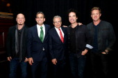 Jimmy Stafford Michael Nierenberg Samuel Waxman Pat Monahan and Scott Underwood attend Collaborating For A Cure 16th annual benefit dinner and...
