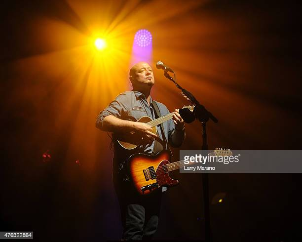 Jimmy Stafford of Train performs at the Coral Sky Amphitheatre on June 7 2015 in West Palm Beach Florida