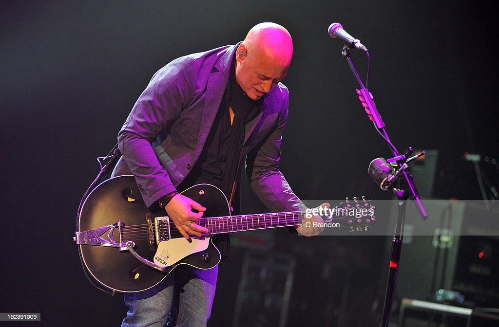 Jimmy Stafford of Train performs on stage at Hammersmith Apollo on February 22, 2013 in London, England.