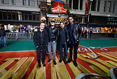 Jimmy Staford Patrick Monohan Hectror Maldonado and Drew Shoals of Train during 89th Annual Macy's Thanksgiving Day Parade Rehearsals Day 2 on...