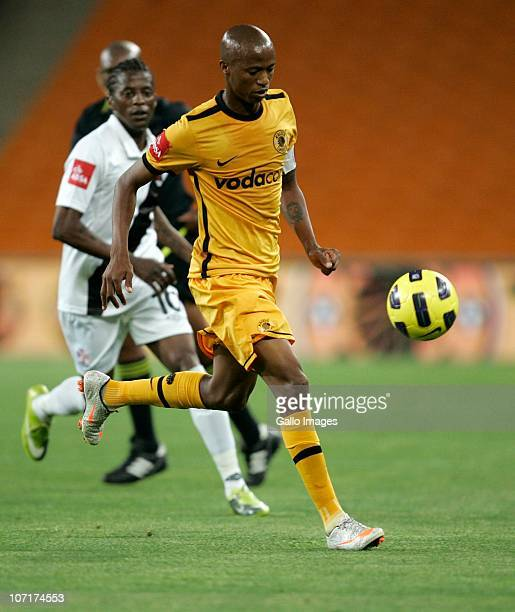 Jimmy Tau of the Chiefs dribbles the ball during the Absa Premiership match between Kaizer Chiefs and Vasco da Gama at FNB Stadium on November 27...
