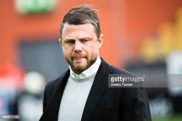 Jimmy Thelin head coach during warmup prior to the Allsvenskan match between IF Elfsborg and Jonkopings Sodra IF at Boras Arena on May 22 2017 in...