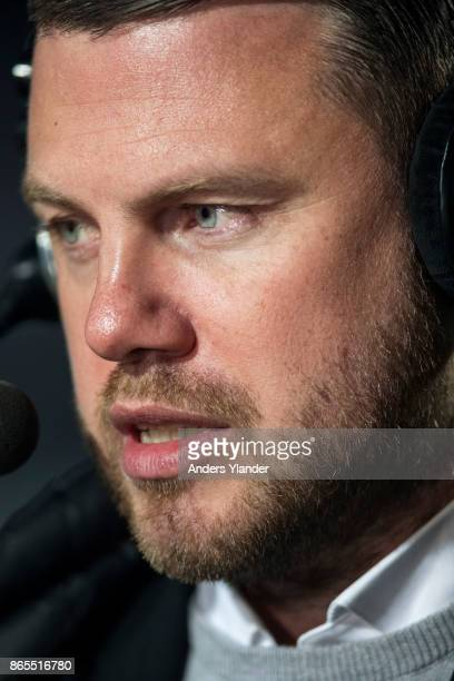 Jimmy Thelin head coach of Jonkopings Sodra during an interview prior to the Allsvenskan match between Jonkopings Sodra IF and Kalmar FF at...
