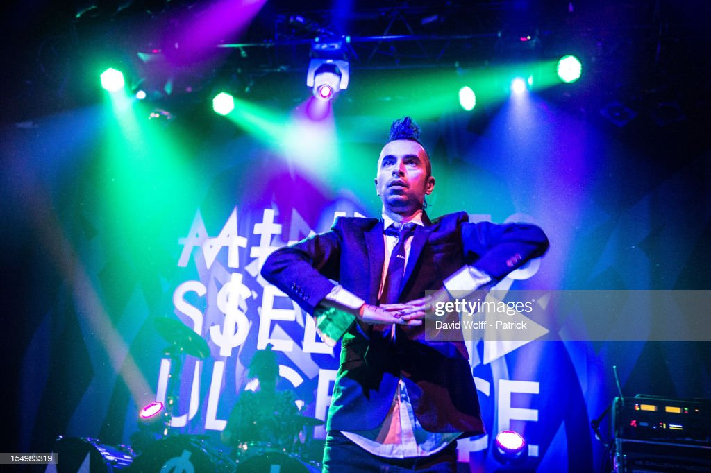 Jimmy Urine from Mindless Self Indulgence performs at Le Bataclan on October 29 2012 in Paris France