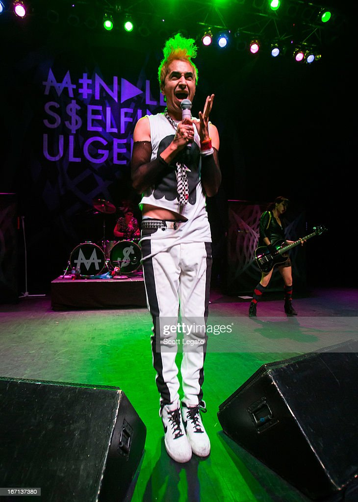 Jimmy Urine from Mindless Self Indulgence performs at The Fillmore on April 20 2013 in Detroit Michigan