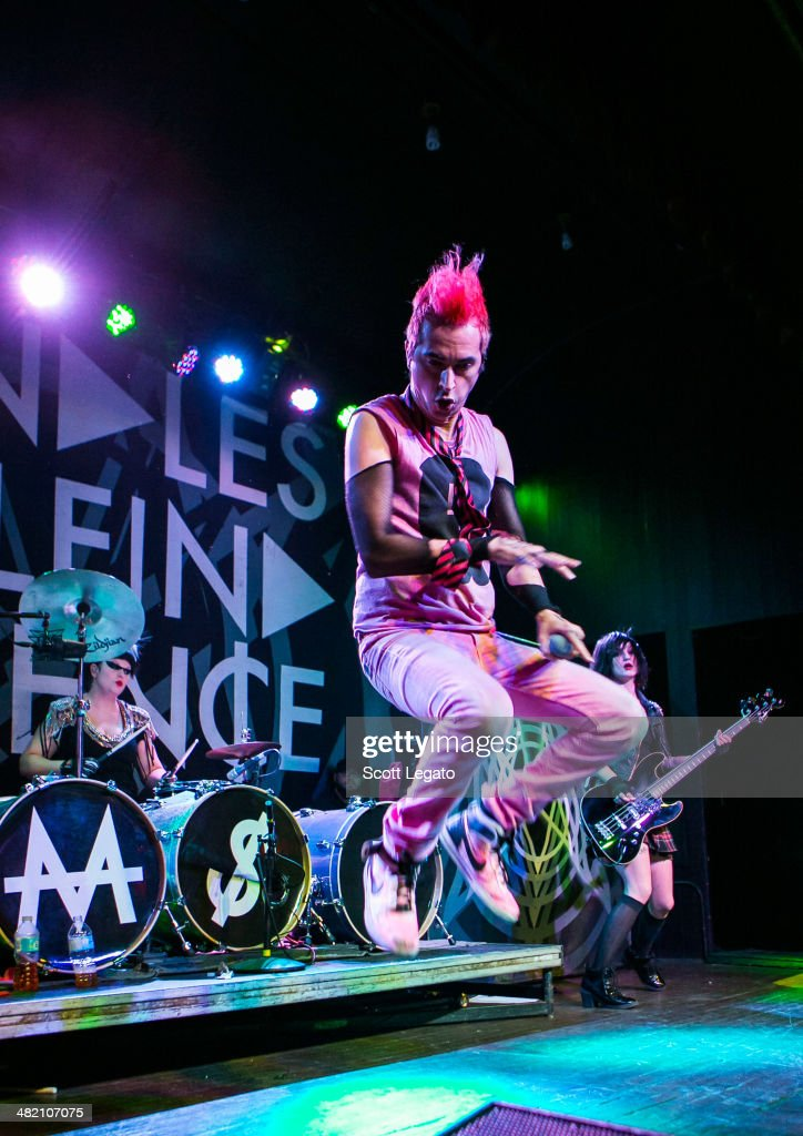 Jimmy Urine of Mindless Self Indulgence performs at St Andrews Hall on April 2 2014 in Detroit Michigan