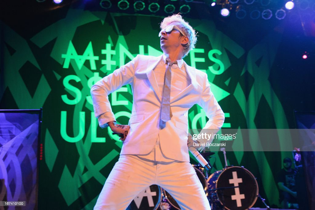 Jimmy Urine of Mindless Self Indulgence performs on stage at House Of Blues Chicago on April 24 2013 in Chicago Illinois