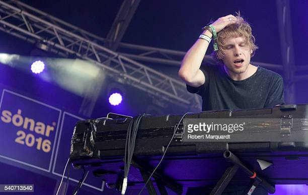 Jimmy Vallance of Bob Moses performs on stage during Sonar Festival 2016 on June 16 2016 in Barcelona Spain