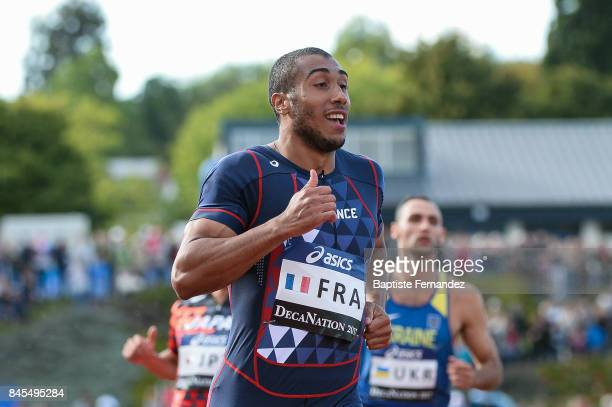 Jimmy Vicaut of France competes in 100m during the DecaNation 2017 on September 9 2017 in Angers France