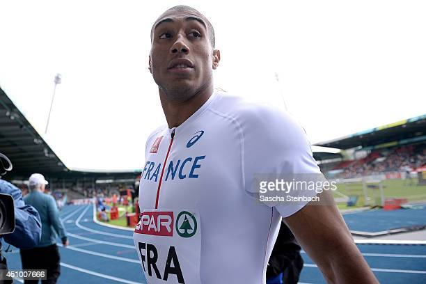 Jimmy Vicaut of France looks on in the Men's 100m during first day of the European Athletics Team Championship at Eintracht Stadium on June 21 2014...