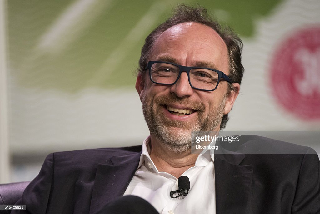 <a gi-track='captionPersonalityLinkClicked' href=/galleries/search?phrase=Jimmy+Wales&family=editorial&specificpeople=836275 ng-click='$event.stopPropagation()'>Jimmy Wales</a>, co-founder of Wikipedia, smiles during the South By Southwest (SXSW) Interactive Festival at the Austin Convention Center in Austin, Texas, U.S., on Sunday, March 13, 2016. The SXSW Interactive Festival features presentations and panels from the brightest minds in emerging technology, scores of networking events hosted by industry leaders and a lineup of special programs showcasing new websites, video games, and startup ideas. Photographer: David Paul Morris/Bloomberg via Getty Images