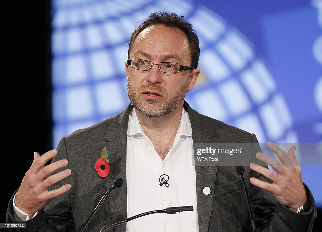 <a gi-track='captionPersonalityLinkClicked' href=/galleries/search?phrase=Jimmy+Wales&family=editorial&specificpeople=836275 ng-click='$event.stopPropagation()'>Jimmy Wales</a>, founder of Wikipedia speaks during the opening session at the London Cyberspace Conference on November 01, 2011 in London, England. The conference, which is being attended by representatives of 60 nations, is due to address rising levels of cybercrime and comes in the wake of a warning from the UK Government Communications Headquarters (GCHQ) that such attacks are at 'disturbing' levels.