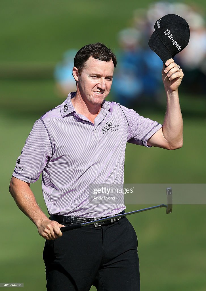 <a gi-track='captionPersonalityLinkClicked' href=/galleries/search?phrase=Jimmy+Walker+-+Golfspieler&family=editorial&specificpeople=11493198 ng-click='$event.stopPropagation()'>Jimmy Walker</a> celebrates on the 18th green after winning the final round of the Sony Open In Hawaii at Waialae Country Club on January 18, 2015 in Honolulu, Hawaii.