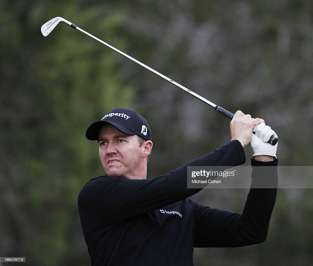 Jimmy Walker hits a shot during the first round of the Valero Texas Open held at the AT&T Oaks Course at TPC San Antonio on April 4, 2013 in San Antonio, Texas.