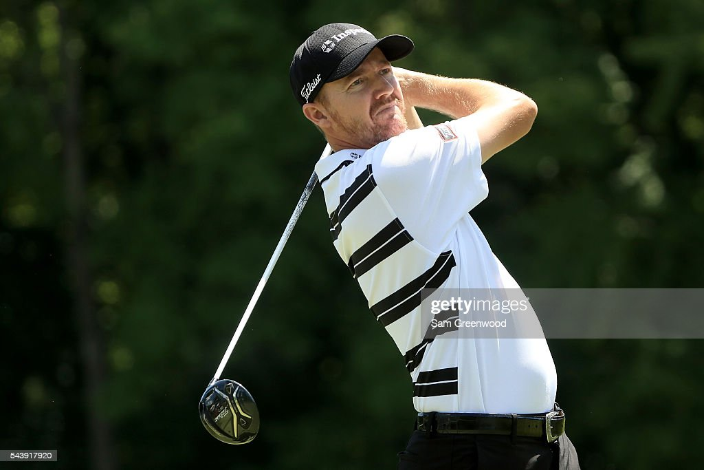 <a gi-track='captionPersonalityLinkClicked' href=/galleries/search?phrase=Jimmy+Walker+-+Golfer&family=editorial&specificpeople=11493198 ng-click='$event.stopPropagation()'>Jimmy Walker</a> hits off the sixth tee during the first round of the World Golf Championships - Bridgestone Invitational at Firestone Country Club South Course on June 30, 2016 in Akron, Ohio.