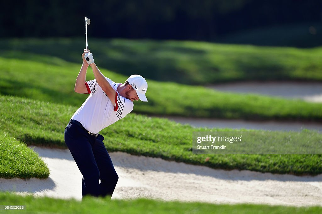 Jimmy Walker of the United States plays a shot on the 13th hole during the second round of the 2016 PGA Championship at Baltusrol Golf Club on July...