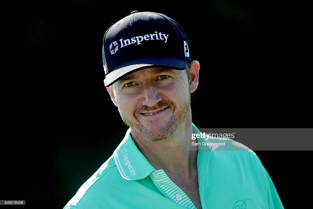 <a gi-track='captionPersonalityLinkClicked' href=/galleries/search?phrase=Jimmy+Walker+-+Golfer&family=editorial&specificpeople=11493198 ng-click='$event.stopPropagation()'>Jimmy Walker</a> of the United States warms up during a practice round prior to the World Golf Championships-Bridgestone Invitational at Firestone Country Club South Course on June 28, 2016 in Akron, Ohio.