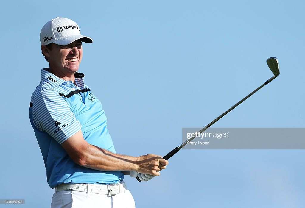 Jimmy Walker plays his shot from the 17th tee during the third round of the Sony Open In Hawaii at Waialae Country Club on January 17, 2015 in Honolulu, Hawaii.