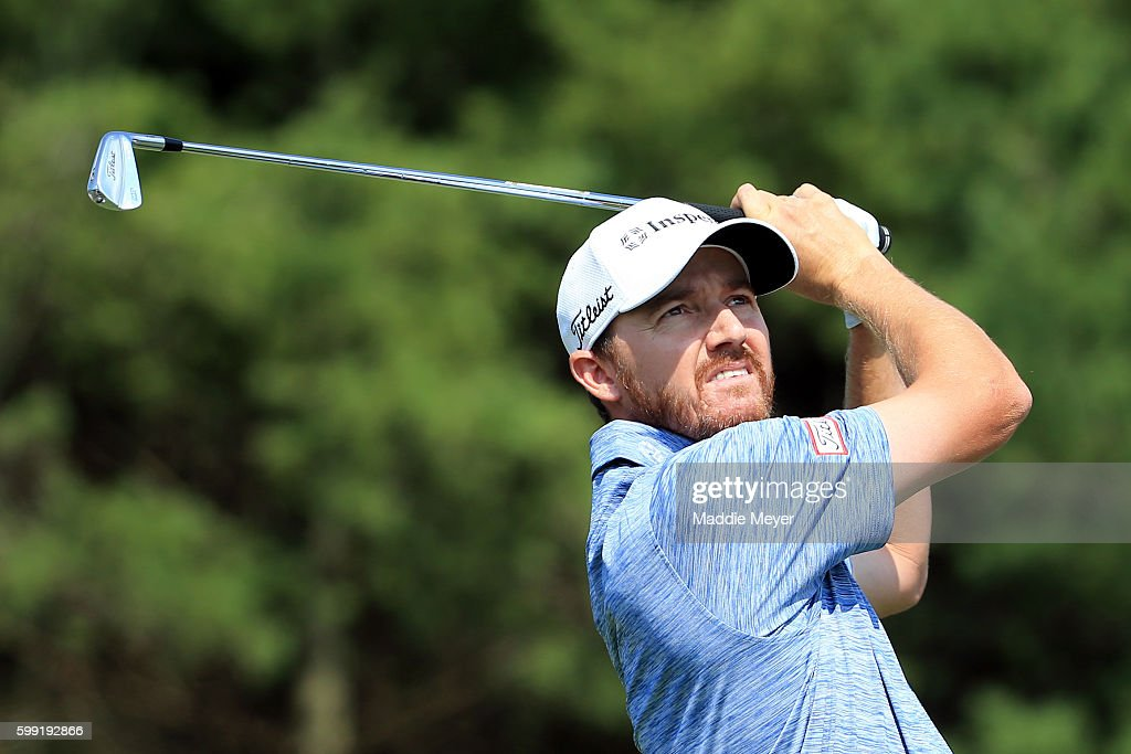 Jimmy Walker plays his shot from the third tee during the third round of the Deutsche Bank Championship at TPC Boston on September 4, 2016 in Norton, Massachusetts.