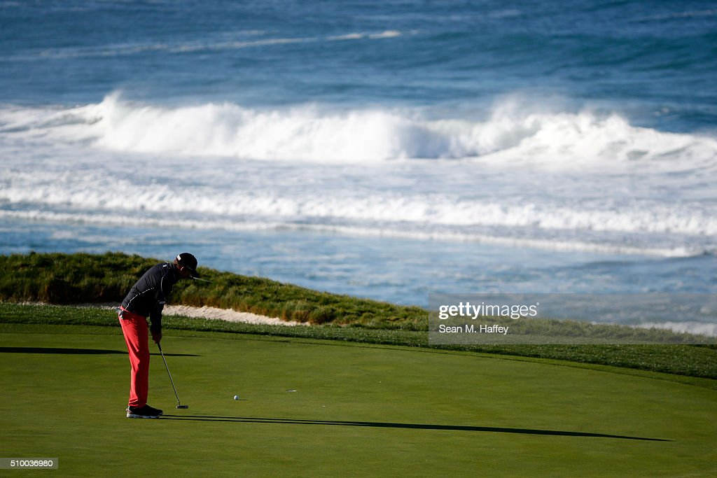 <a gi-track='captionPersonalityLinkClicked' href=/galleries/search?phrase=Jimmy+Walker+-+Golfer&family=editorial&specificpeople=11493198 ng-click='$event.stopPropagation()'>Jimmy Walker</a> putts on the 10th green during round three of the AT&T Pebble Beach National Pro-Am at the Pebble Beach Golf Links on February 13, 2016 in Pebble Beach, California.