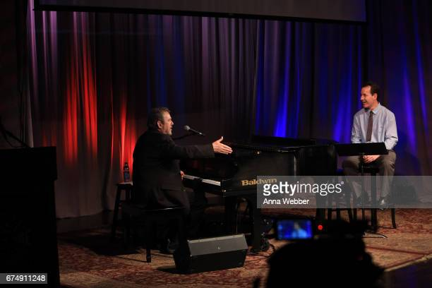 Jimmy Webb and Country Music Hall of Fame and Museum Curator Michael Gray speaks during Poets And Prophets Session at Country Music Hall of Fame and...
