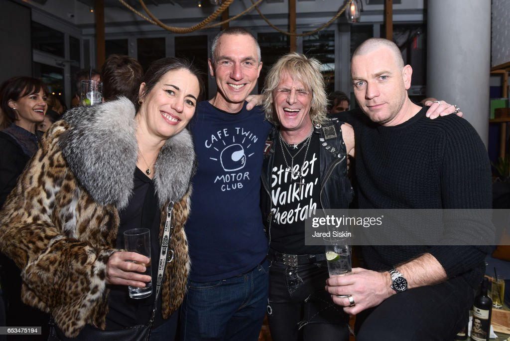 Jimmy Webb and Ewan McGregor attend TriStar Pictures & The Cinema Society with 19 Crimes Host the After Party for 'T2 Trainspotting' at Mr. Purple at the Hotel Indigo LES on March 14, 2017 in New York City.