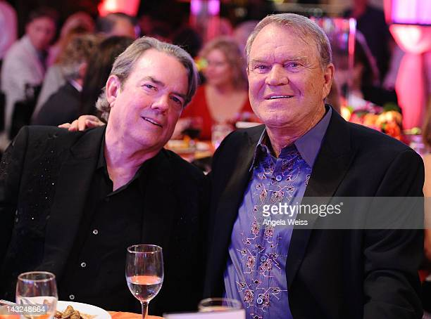 Jimmy Webb and Glen Campbell attend Jane Seymour's 2nd annual Open Hearts Foundation Celebration held at a private residency on April 21 2012 in...