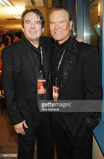Jimmy Webb and Glen Campbell during 44th Annual ASCAP Country Music Awards After Party at BellSouth Building in Nashville Tennessee United States