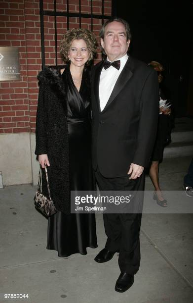 Jimmy Webb and guest attend the opening night of 'All About Me' on Broadway at Henry Miller's Theatre on March 18 2010 in New York City
