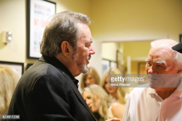 Jimmy Webb and Singer/Songwriter Dickey Lee backstage during Jimmy Webb Poets And Prophets Session at Country Music Hall of Fame and Museum on April...