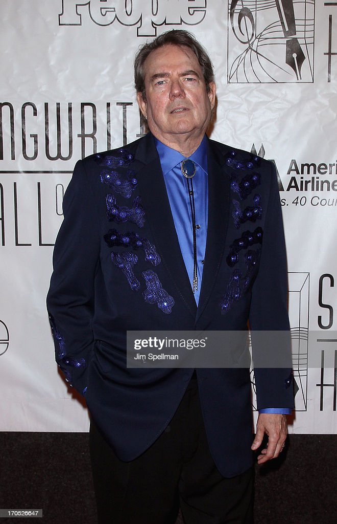 <a gi-track='captionPersonalityLinkClicked' href=/galleries/search?phrase=Jimmy+Webb&family=editorial&specificpeople=2773908 ng-click='$event.stopPropagation()'>Jimmy Webb</a> attends the 2013 Songwriters Hall Of Fame Gala at Marriott Marquis Hotel on June 13, 2013 in New York City.