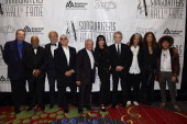 Jimmy Webb Berry Gordy Mick Jones Bernie Taupin Tony Hatch Holly Knight JD Souther Joe Perry Steven Tyler and Benny Blanco attend the Songwriters...