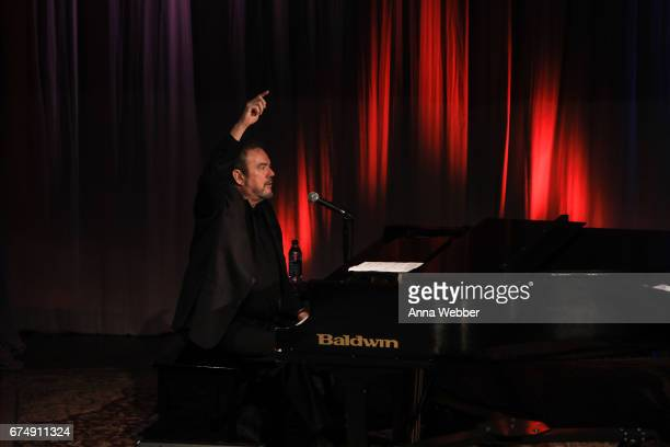 Jimmy Webb performs during Poets And Prophets Session at Country Music Hall of Fame and Museum on April 29 2017 in Nashville Tennessee