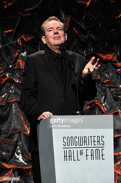 Jimmy Webb speaks onstage at the Songwriters Hall of Fame 45th Annual Induction and Awards at Marriott Marquis Theater on June 12 2014 in New York...