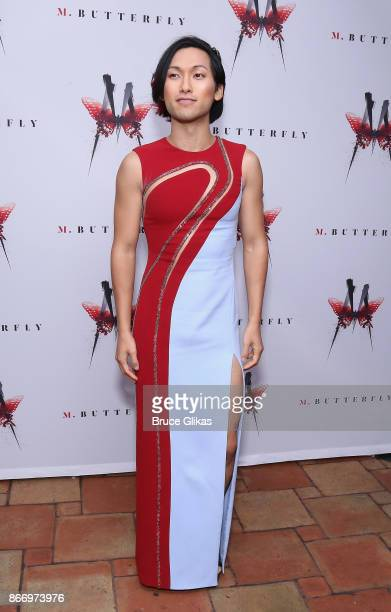 Jin Ha poses at the Opening Night After Party for 'M Butterfly' on Broadway at Red Eye Grille on October 26 2017 in New York City