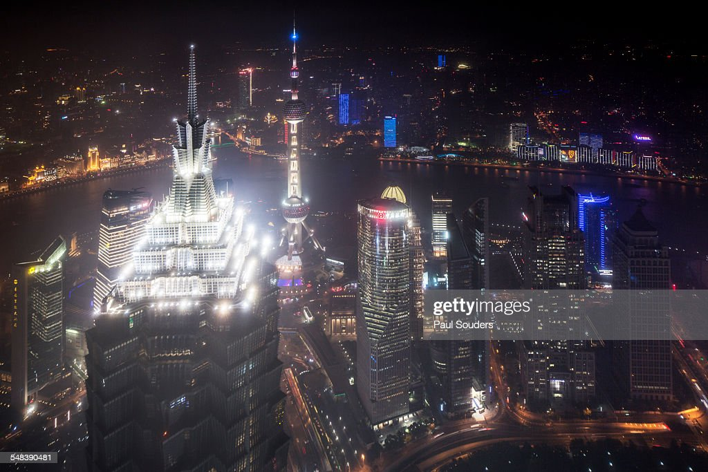 Jin Mao Tower and Pudong Skyline, Shanghai, China