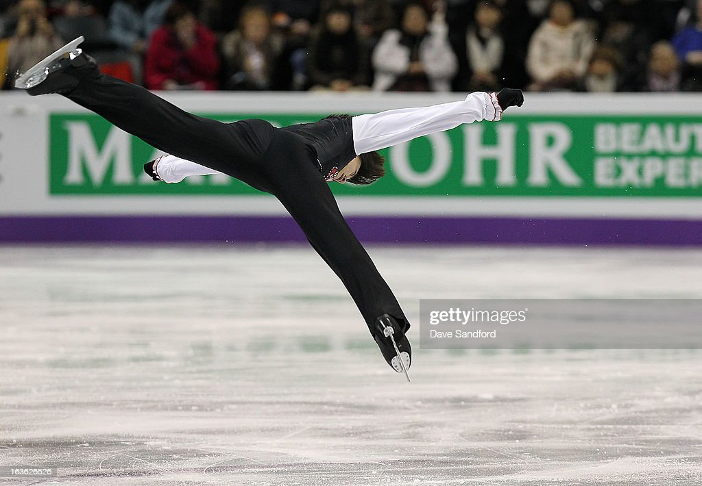 Jin Seo Kim of Korea skates in the Men's Short Program during the 2013 ISU World Figure Skating Championships at Budweiser Gardens on March 13, 2013 in London, Ontario, Canada.