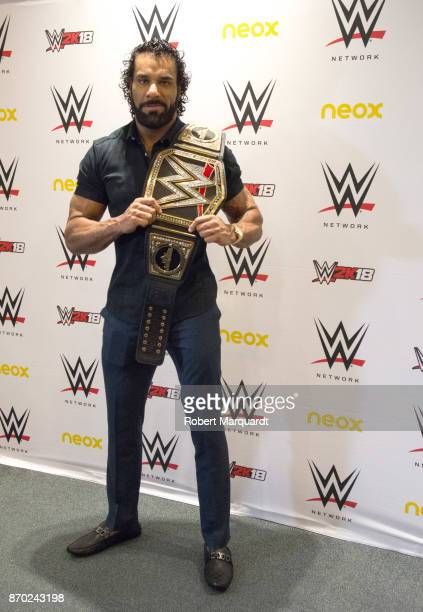 Jinder Mahal attends a press conference for 'WWE' at the Hotel Four Points on November 4 2017 in Barcelona Spain