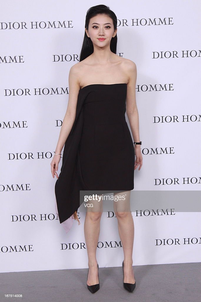 Jing Tian attends the Dior Homme F/W 2013 Menswear Collection Show on April 25, 2013 in Beijing, China.