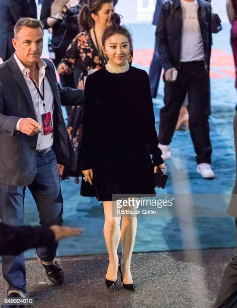 Jing Tian is seen greeting fans on March 08 2017 in Los Angeles California