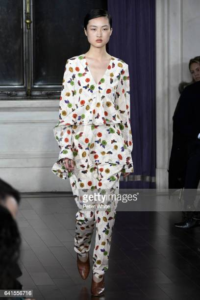 Jing Wen walks the runway during Jason Wu show during New York Fashion Week at The St Regis on February 10 2017 in New York City