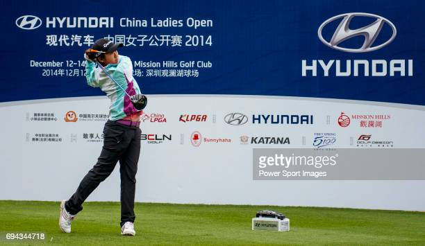 Jing Yan of China in action during the Hyundai China Ladies Open 2014 on December 12 in Shenzhen China
