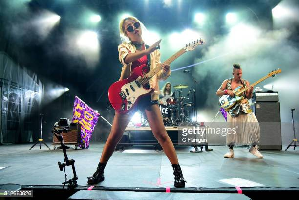 Jinjoo Lee and Cole Whittle of DNCE perform during the 2017 Festival d'ete de Quebec on July 10 2017 in Quebec City Canada